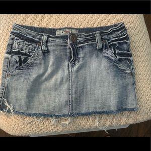YMI Denim Mini Skirt